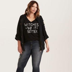 b358b093b69 torrid Tops - NWOT Torrid Halloween Witches Do it Better V-Neck